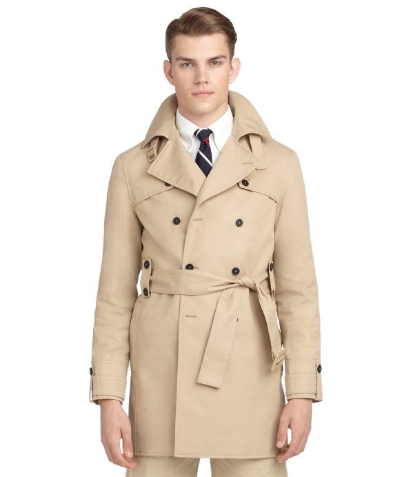 TWILL BELTED TRENCH COAT Khaki