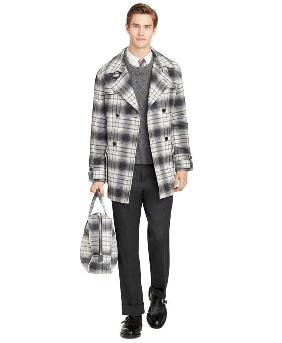 Grey Plaid Coat Grey