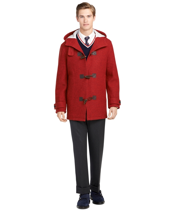 Red Toggle Jacket Red