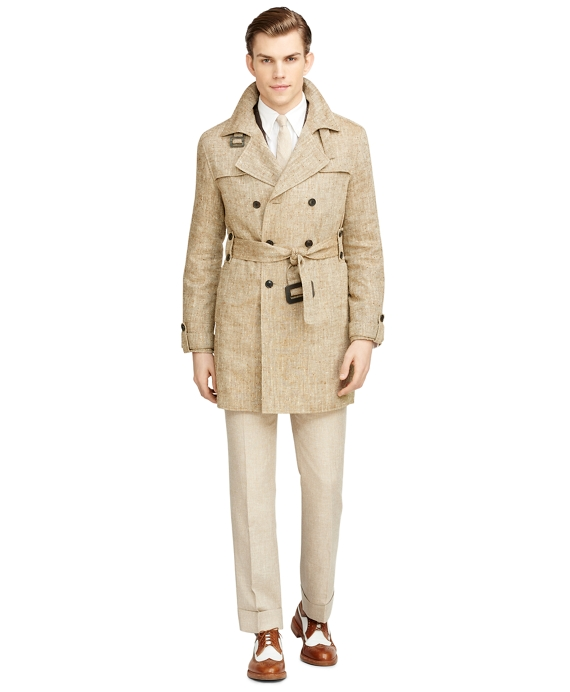Double-Breasted Trench Coat Tan