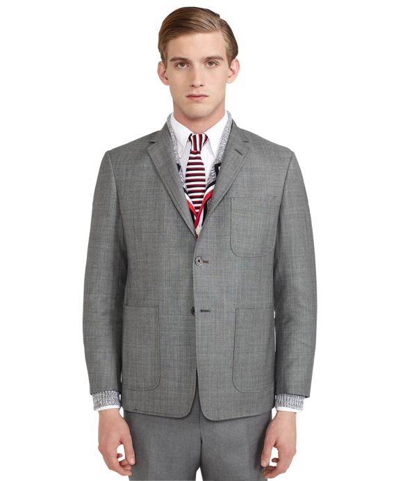 Light Grey Patch Pocket Jacket Grey