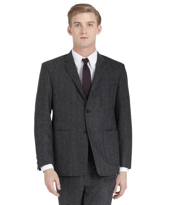 Herringbone Patch Pocket Jacket Grey