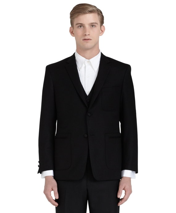 Wool Twill Tuxedo Jacket Black