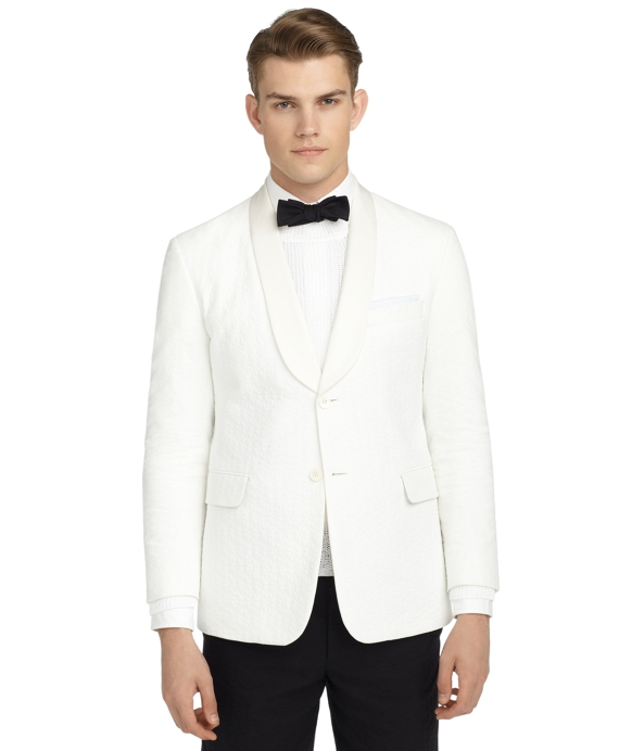 WHITE SHAWL COLLAR TUXEDO JACKET White