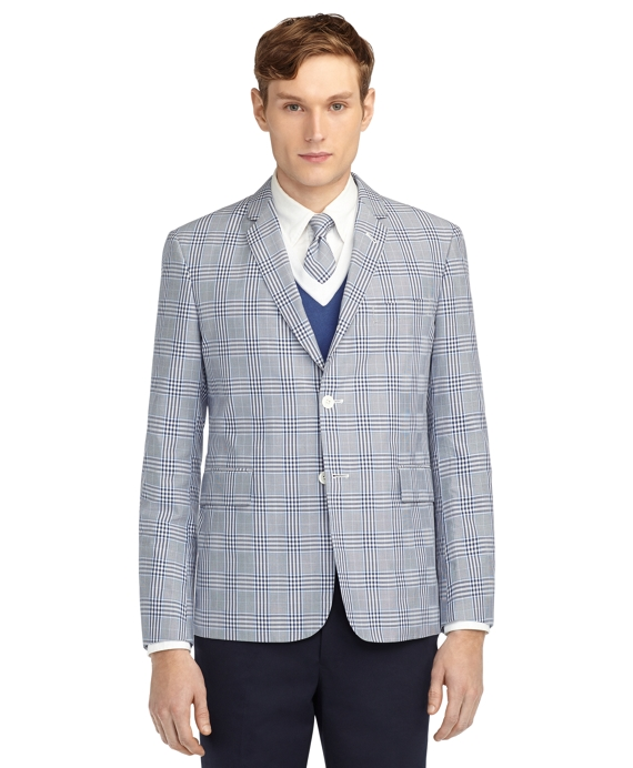 PLAID CLASSIC JACKET Navy-White-Light Blue