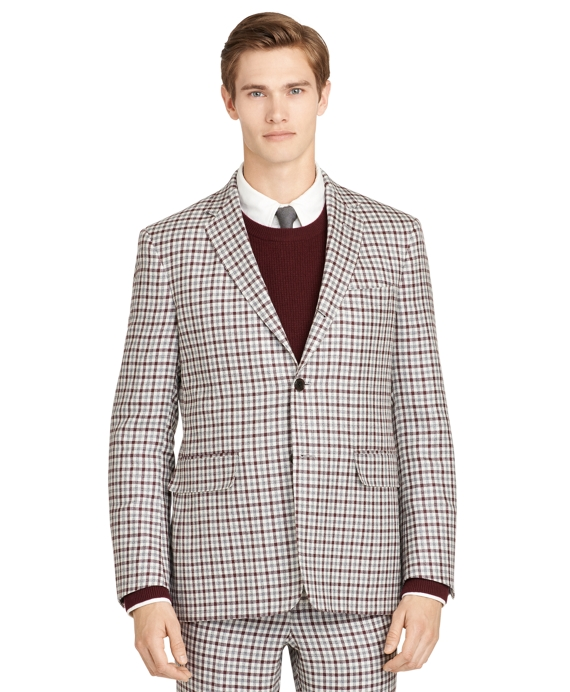 Burgundy Check Sport Coat Burgundy