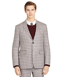 Burgundy Check Sport Coat