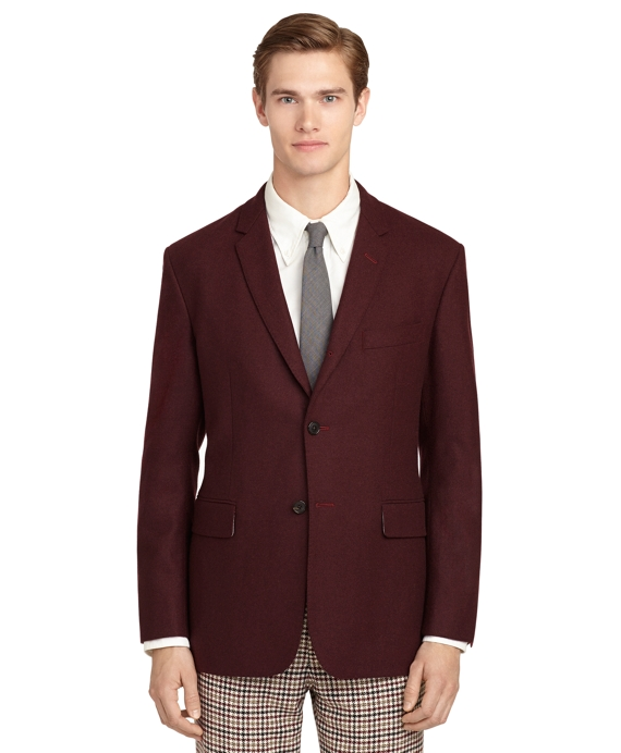 Burgundy Flannel Sport Coat - Brooks Brothers