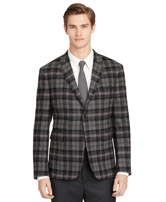 Charcoal Plaid Sport Coat Charcoal