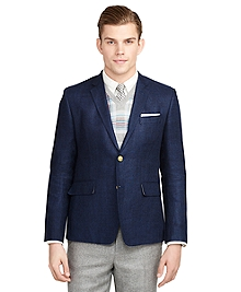 Navy Darted Sport Coat