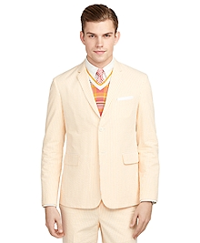 Orange Seersucker Classic Sport Coat