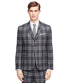 Plaid Cut-Away Sport Coat