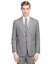 Fun Stripe Patch Pocket Sport Coat
