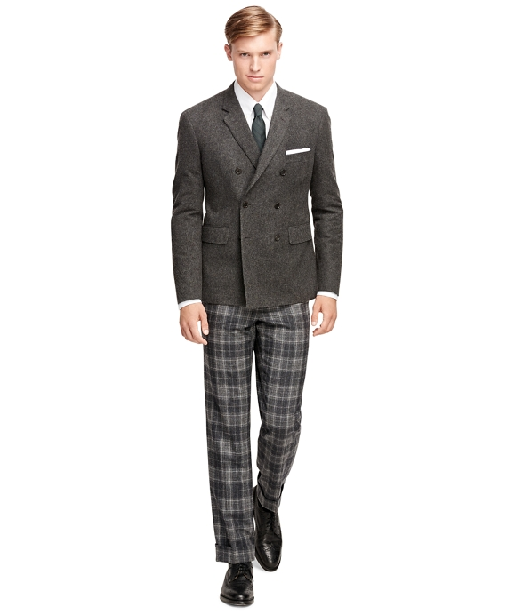 Men's Dark Grey Cashmere Double-Breasted Sport Coat | Brooks Brothers