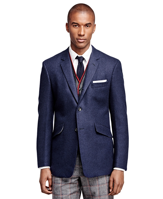 Wool and Mohair Sport Coat Navy