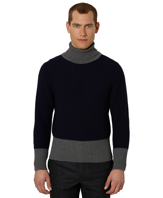 Black Fleece Cashmere Turtleneck Navy