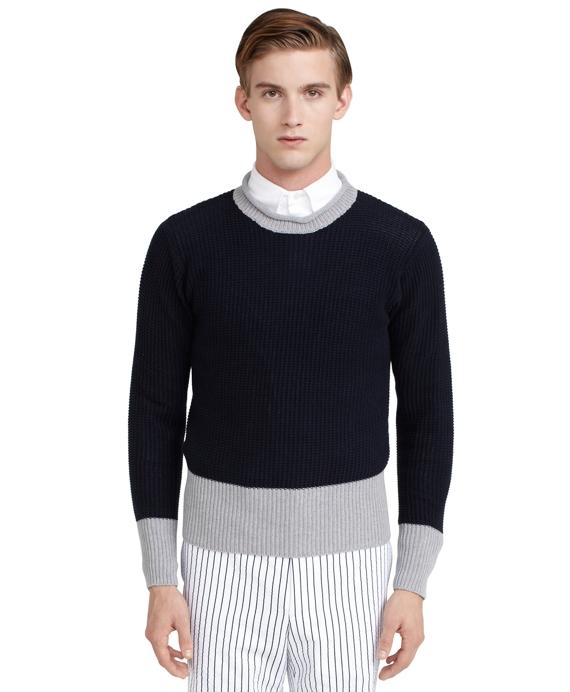 Roll-Neck Sweater Navy