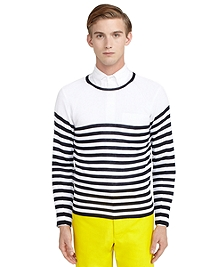 Whole Garment Striped Sweater
