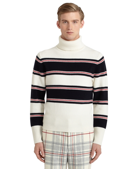Striped Turtleneck Ivory