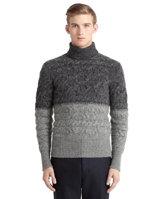 Cashmere Turtleneck Grey-Navy