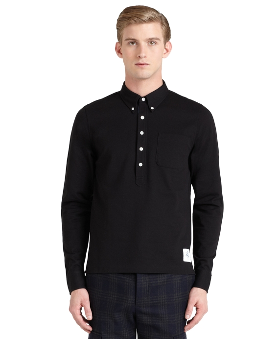 Solid Rugby Shirt Black