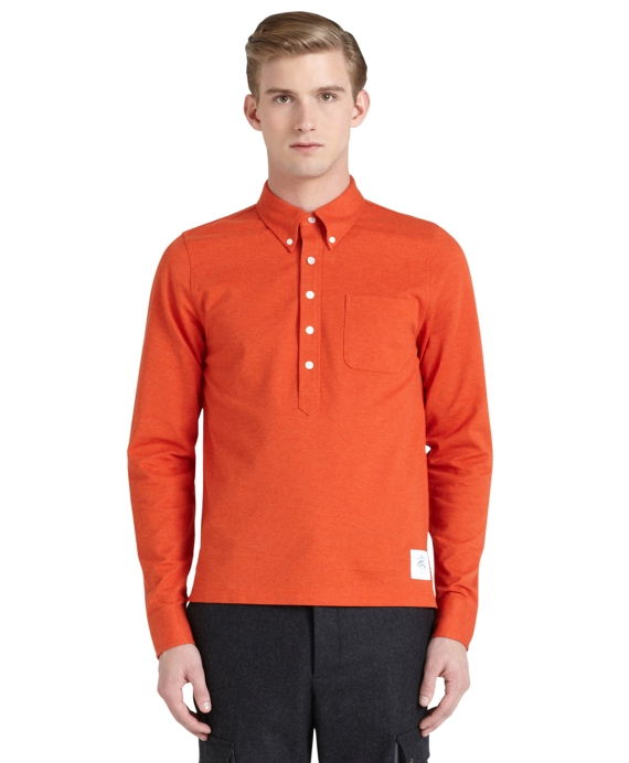 Solid Rugby Shirt Bright Orange