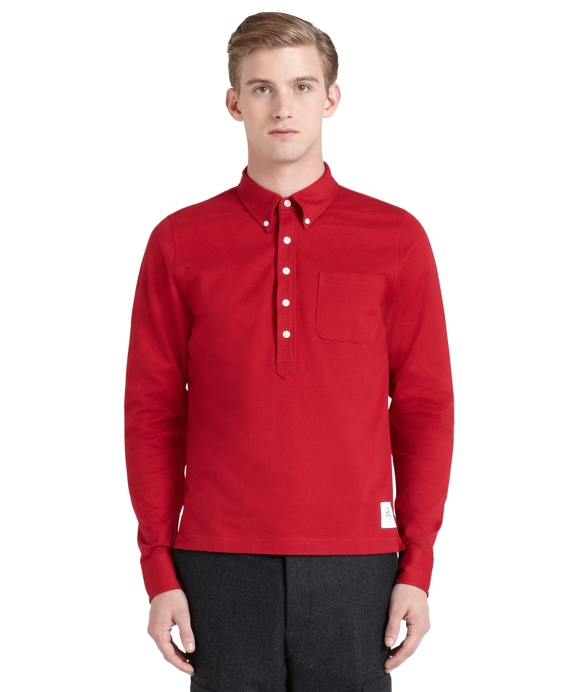 Solid Rugby Shirt Red