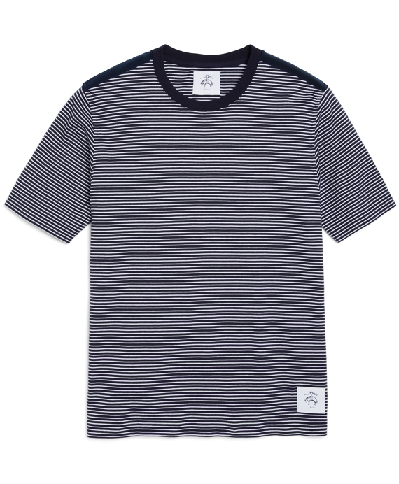STRIPE TEE Navy-White