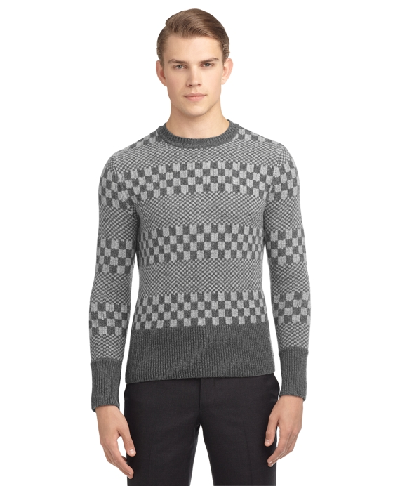 GRAPHIC CREWNECK SWEATER Grey
