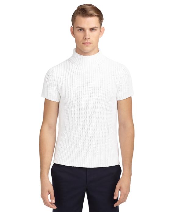 Short Sleeve Mock Turtle Neck Sweater English Sweater Vest