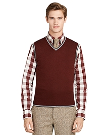 Burgundy Tipped Vest