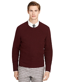 Burgundy Thermal Crewneck Sweater