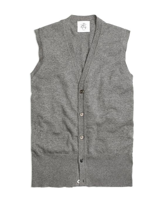 Cashmere Button-Front Vest Grey