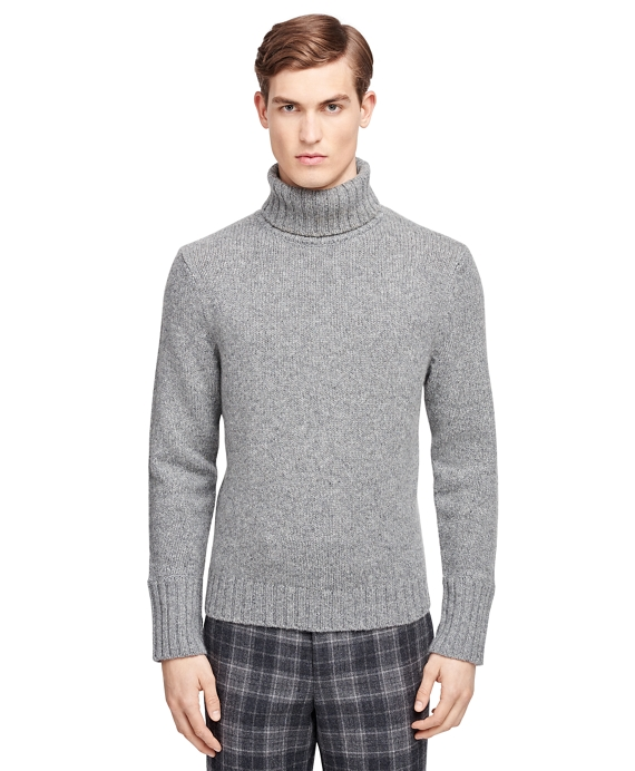 Lambswool and Cashmere Turtleneck Grey