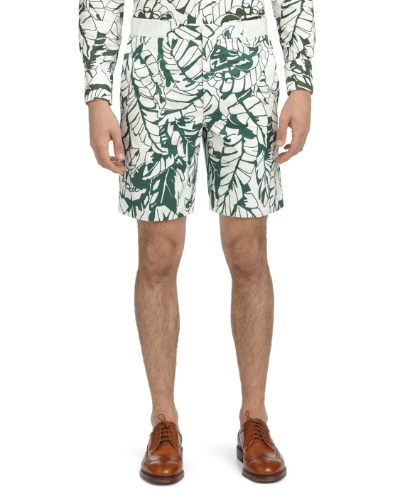 BANANA LEAF SHORTS Green-White