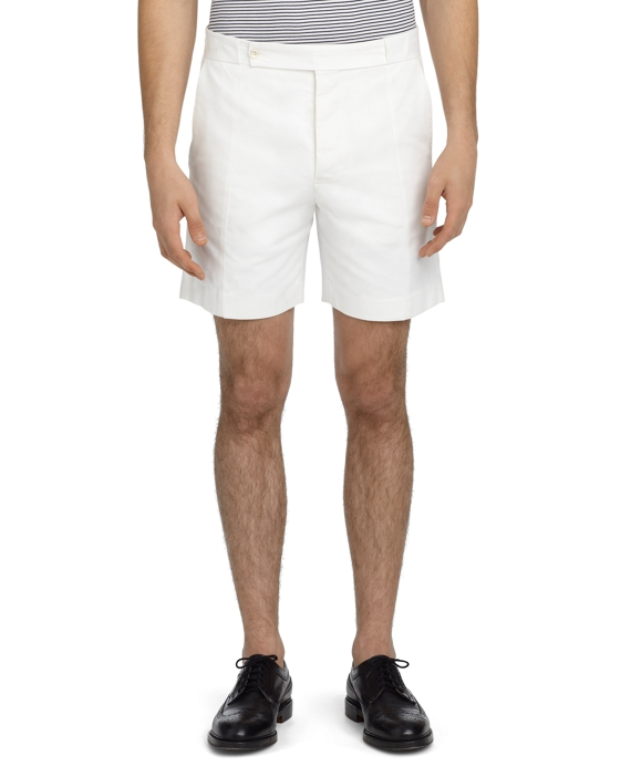 PIQUE SIDE CUT SHORTS White