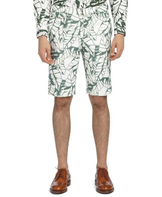 BANANA LEAF BERMUDA SHORTS Green-White