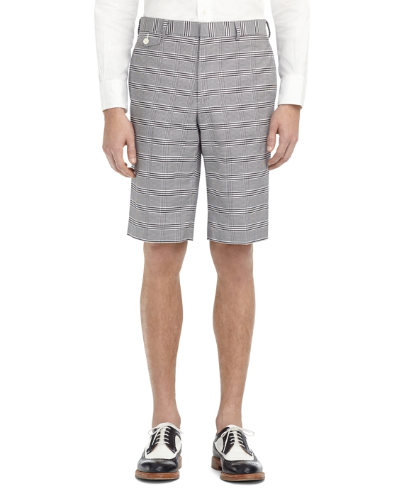 PRINCE OF WALES BERMUDAS Black-White