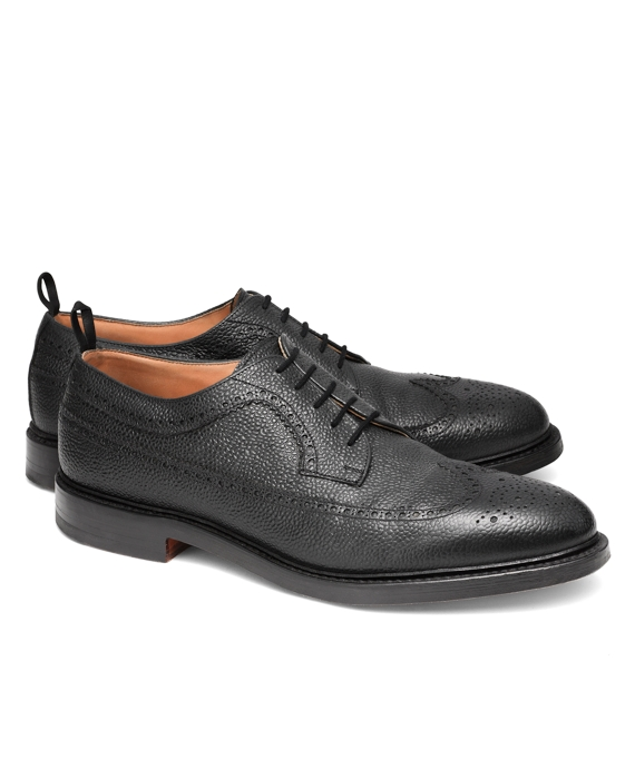 Scotch Grain Leather Wingtip Black