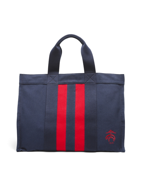 Large Canvas Tote Navy-Red