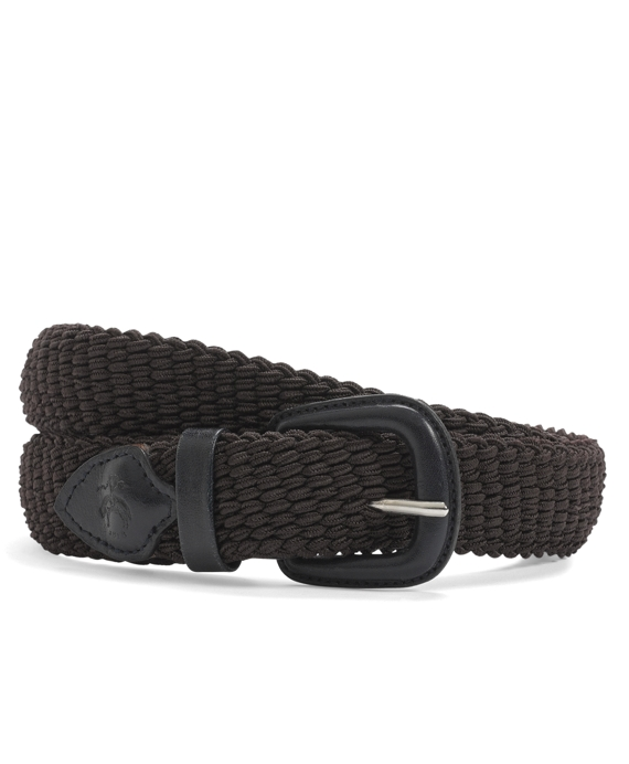 Woven Stretch Belt Brown