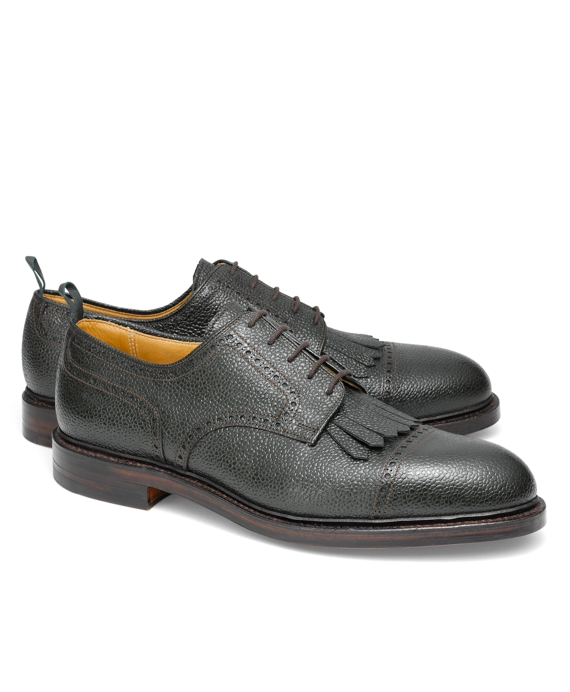 Pebble Leather Kiltie Wingtip Hunter Green