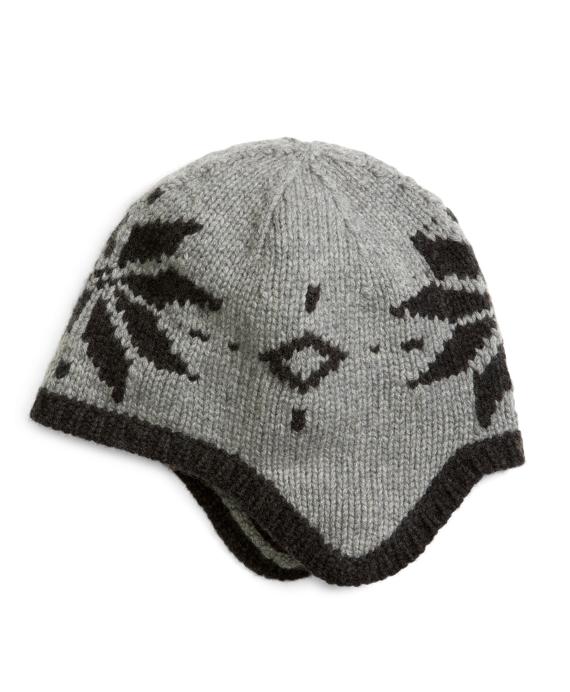 Men's Grey Cashmere Fair Isle Winter Hat | Brooks Brothers