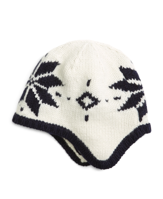 Men's Ivory Cashmere Fair Isle Winter Hat | Brooks Brothers