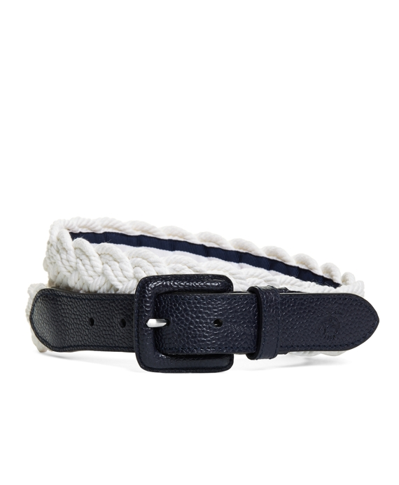 ROPE BELT White-Navy