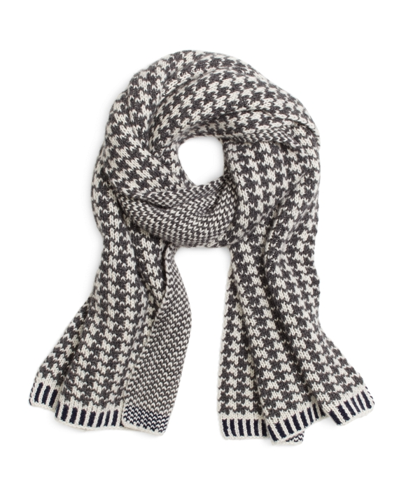 Grey and White Cashmere Scarf Grey-White