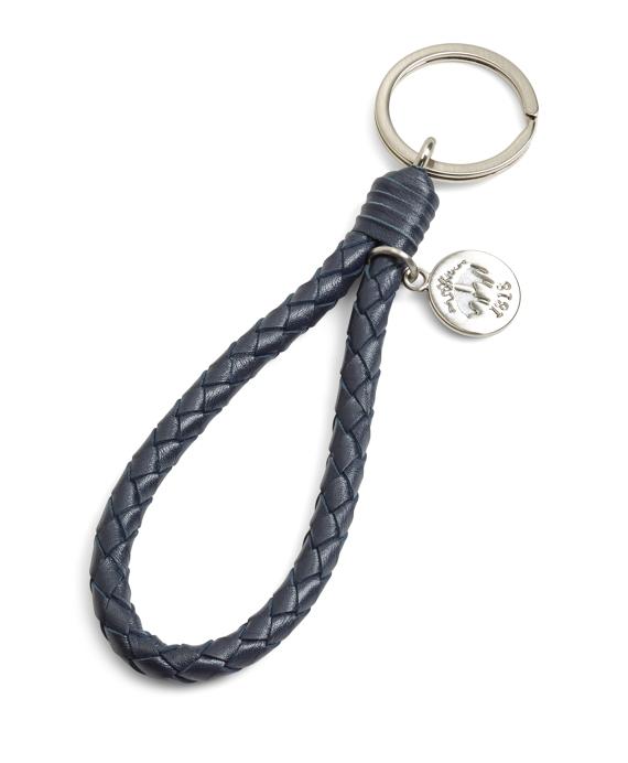 Navy Braided Key Fob Navy