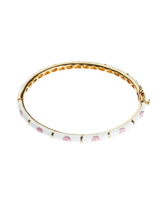 Flower Bangle White