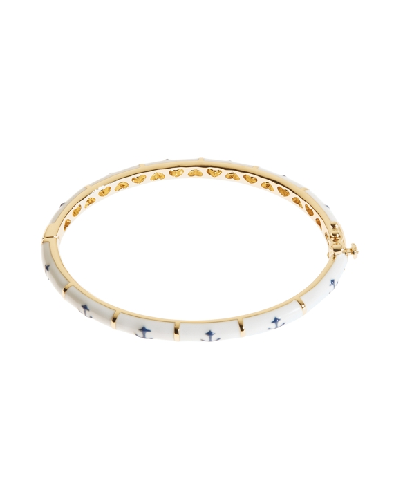 Anchor Bangle Bracelet White-Blue