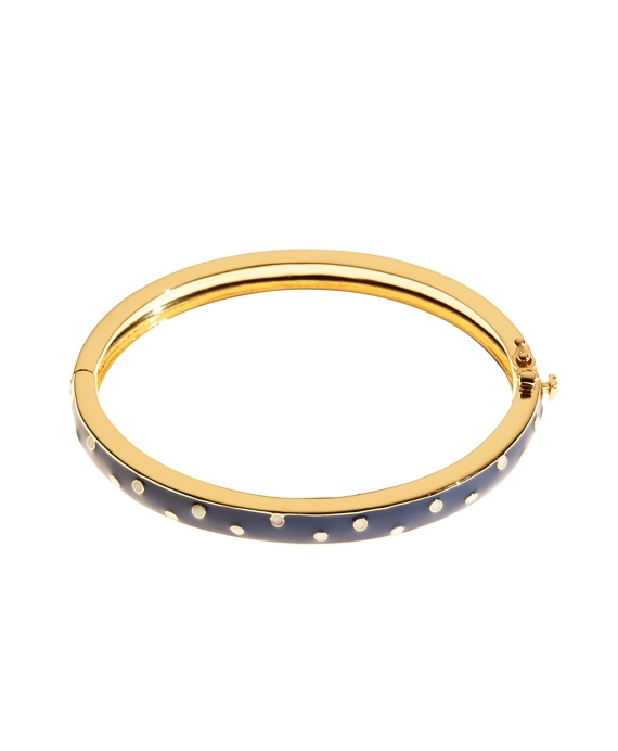 Wide Dot Bangle Bracelet Blue-White